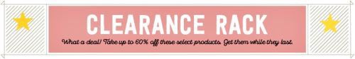 Clearance Rack Items 8-17