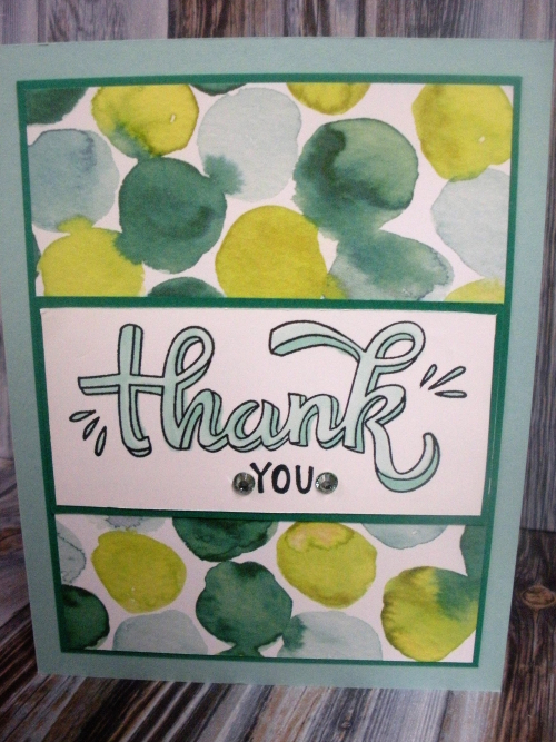 Thank You Card-Stampin Blends