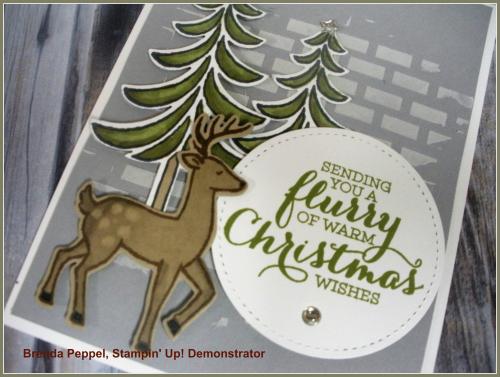Santa's Sleigh Card-close up