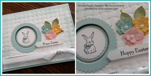 Easter-blue card collage