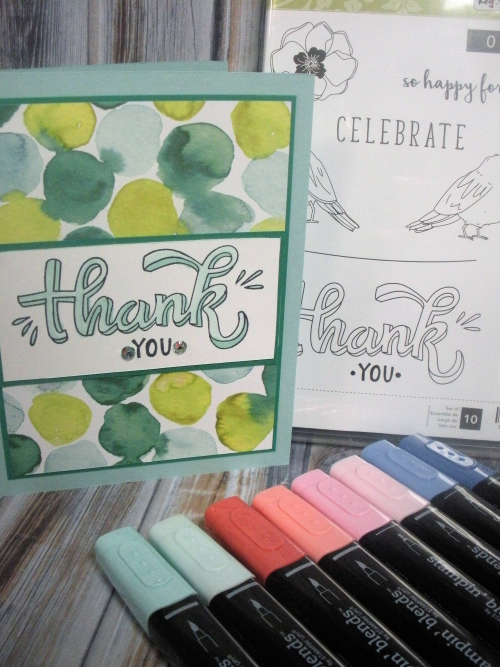 Thank You Card-Stampin Blends-1