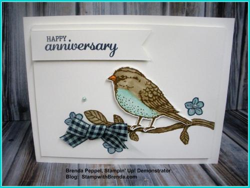 Bird & Blooms Anniversary Card