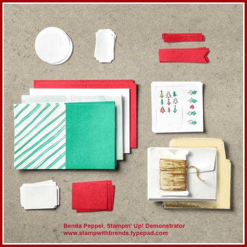 Watercolor Christmas Kit-contents
