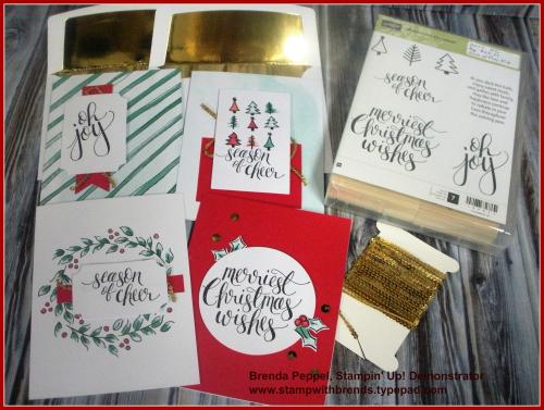 Watercolor Christmas Proj Kit Samples