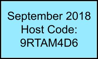 Sept 18 Host Code